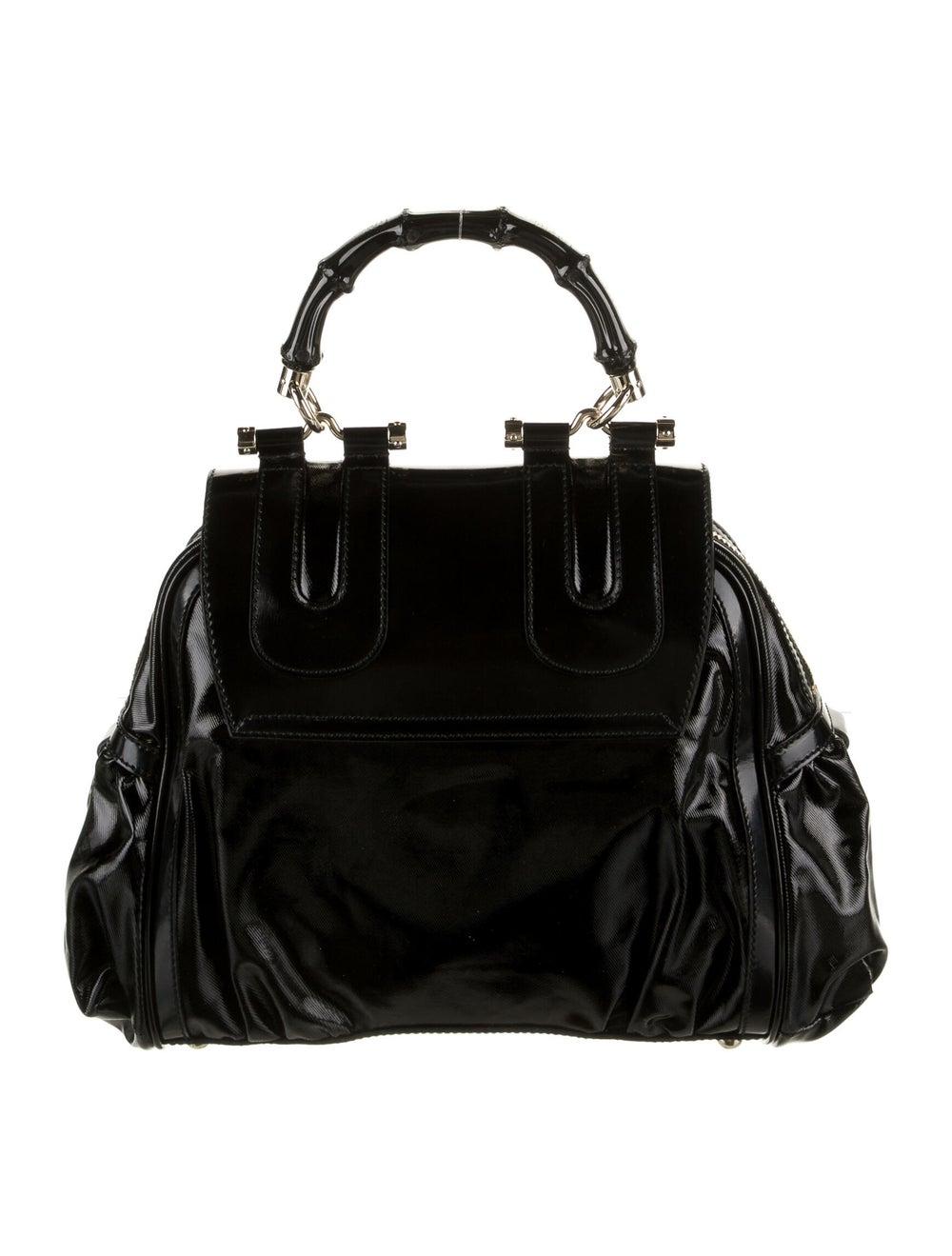 Gucci Pop Bamboo Handle Bag Black - image 4