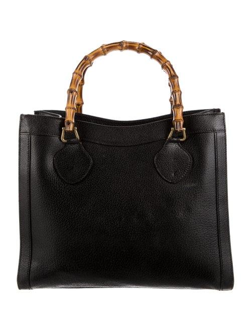 Gucci Vintage Diana Bamboo Tote Black - image 1