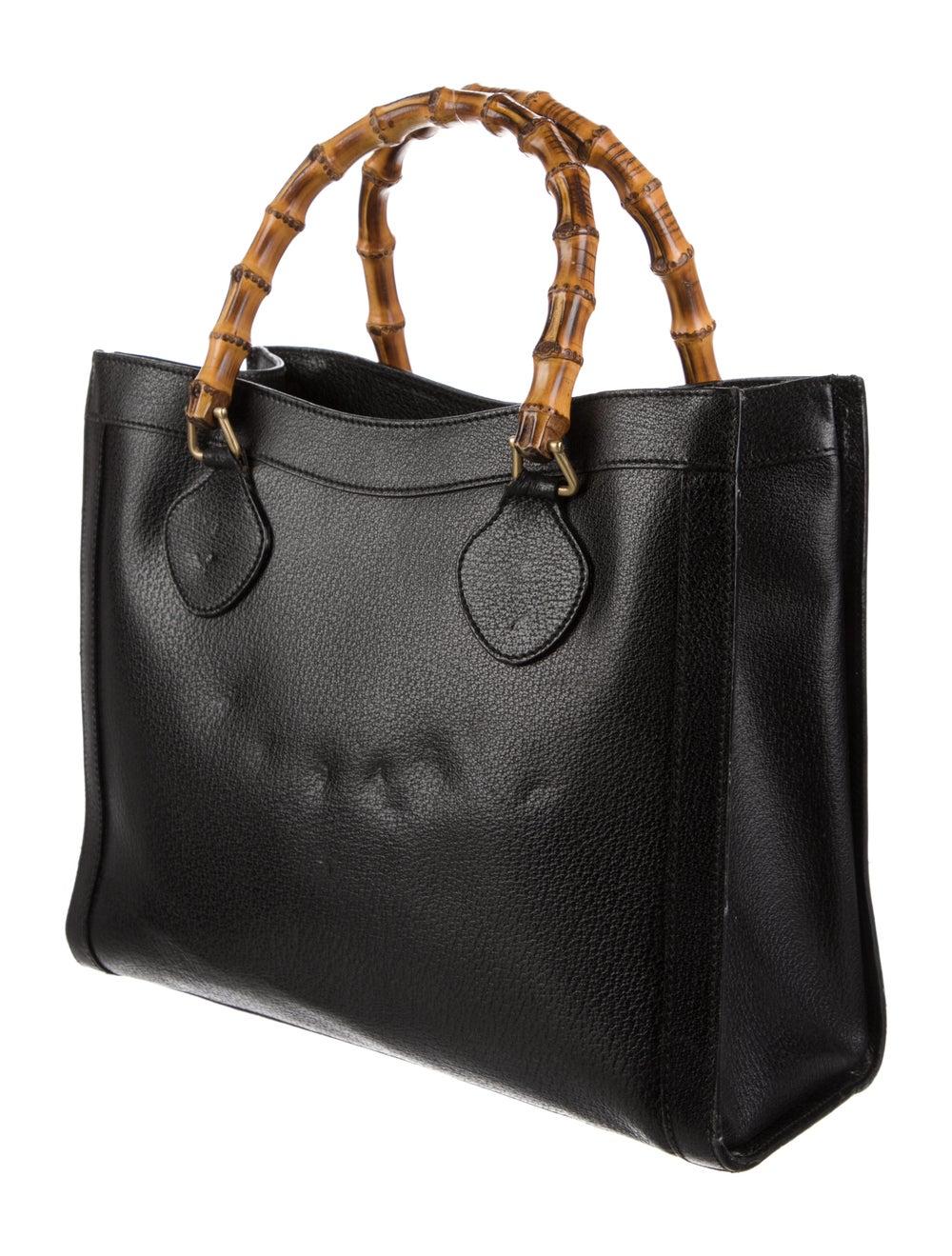Gucci Vintage Diana Bamboo Tote Black - image 3