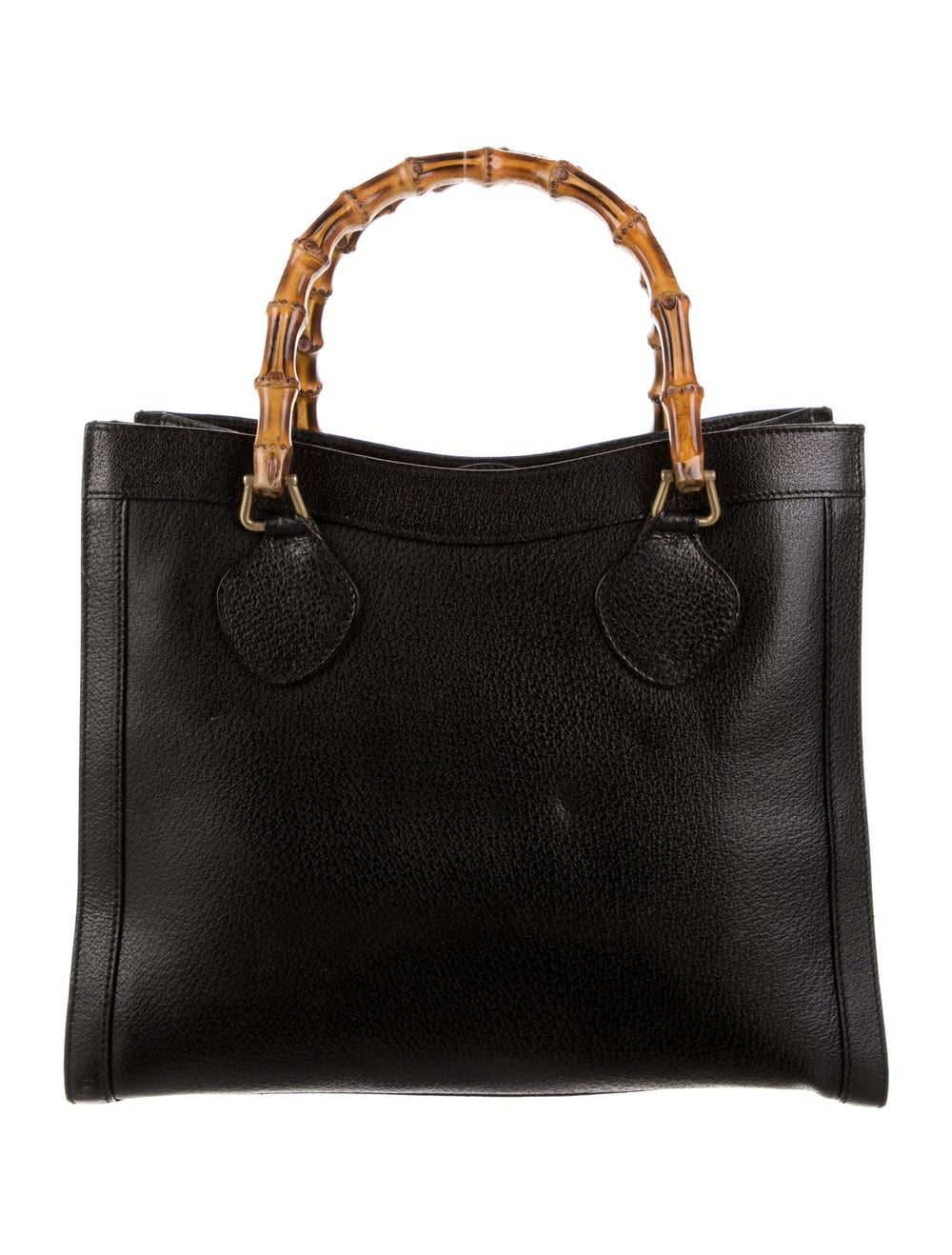 Gucci Vintage Diana Bamboo Tote Black - image 4