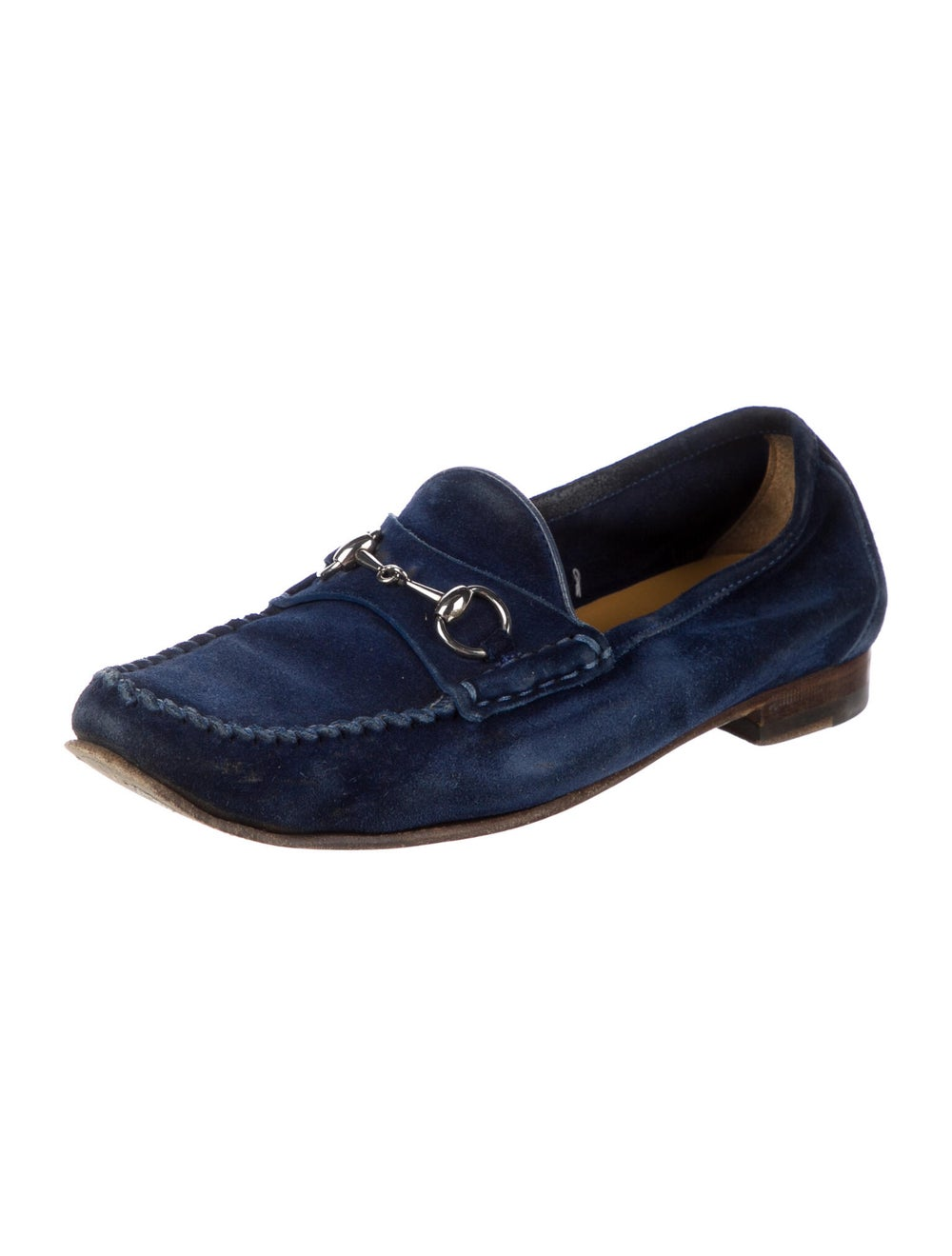 Gucci Suede Loafers Blue - image 2