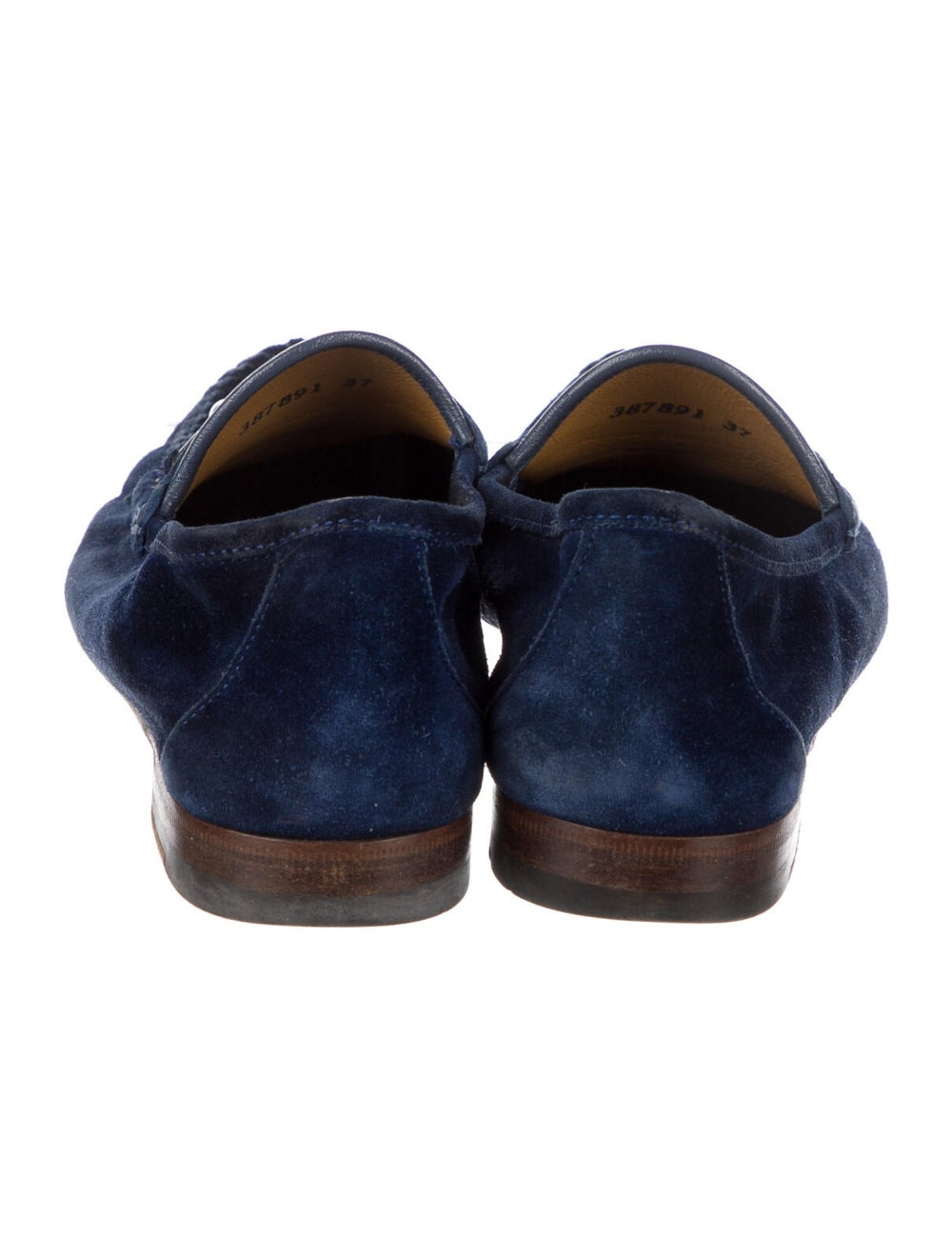 Gucci Suede Loafers Blue - image 4