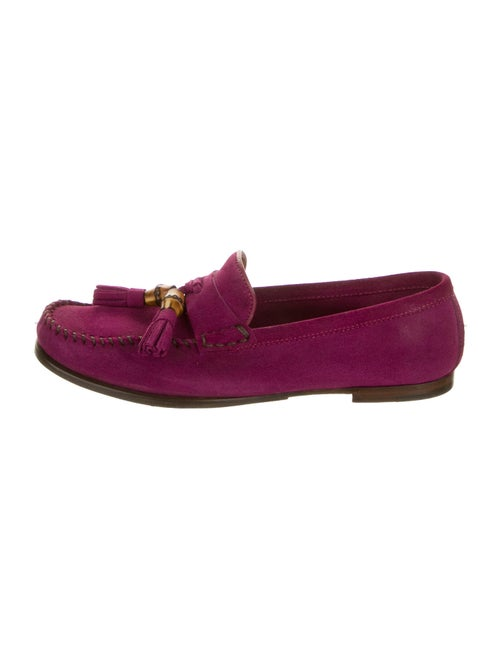 Gucci Suede Loafers Purple - image 1