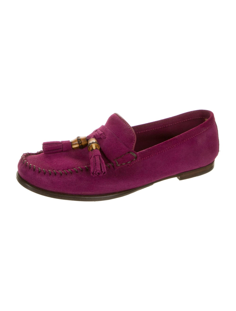 Gucci Suede Loafers Purple - image 2