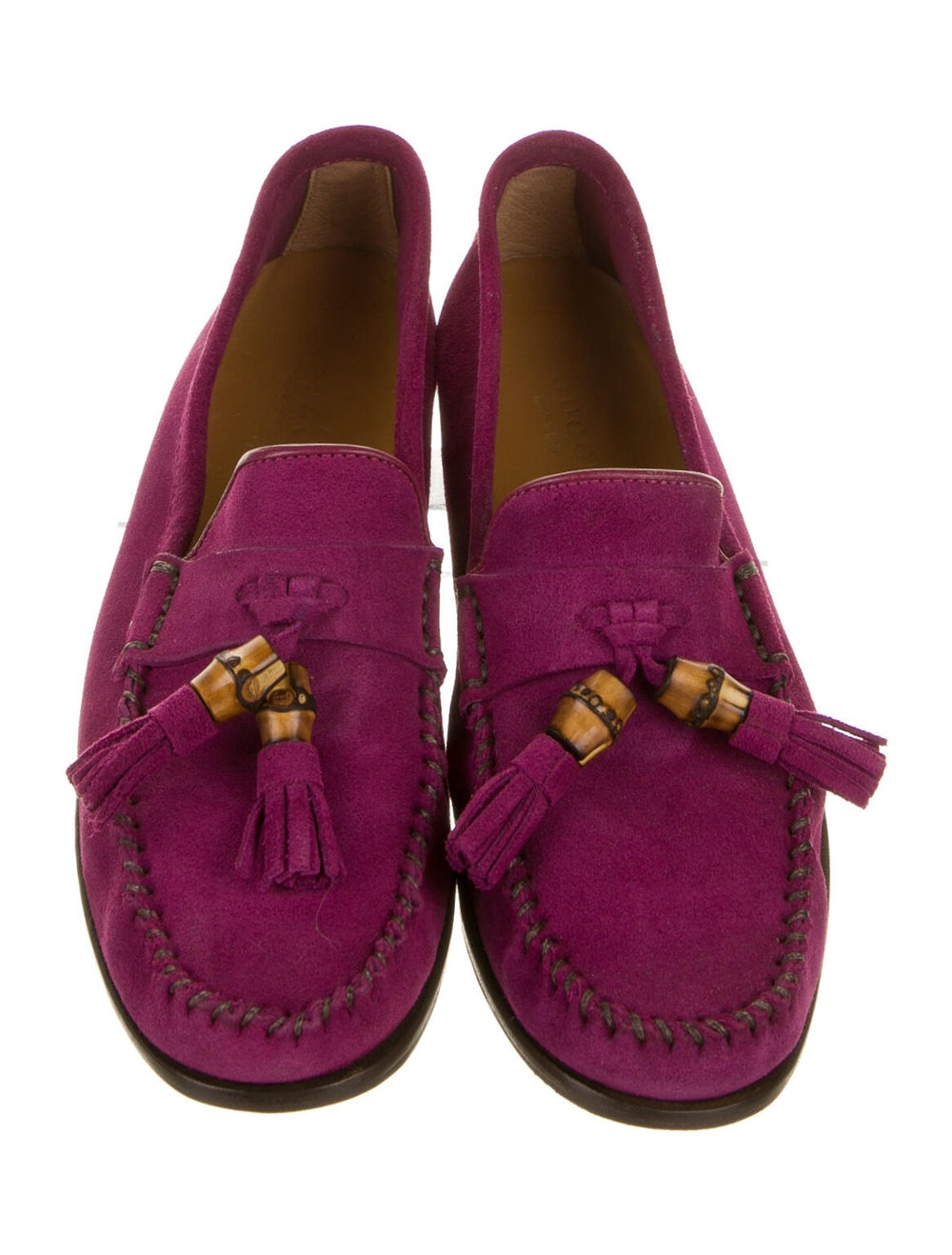 Gucci Suede Loafers Purple - image 3