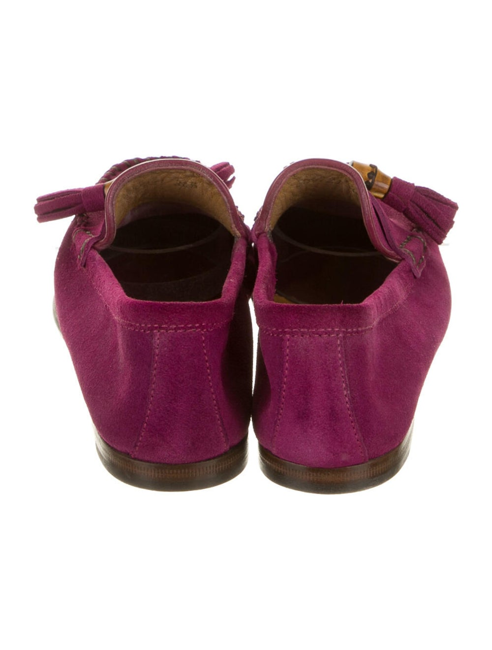 Gucci Suede Loafers Purple - image 4
