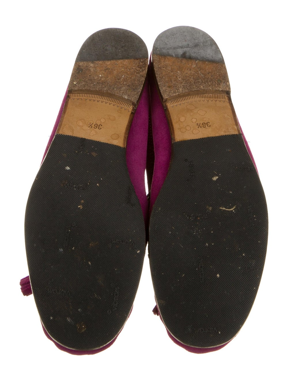 Gucci Suede Loafers Purple - image 5