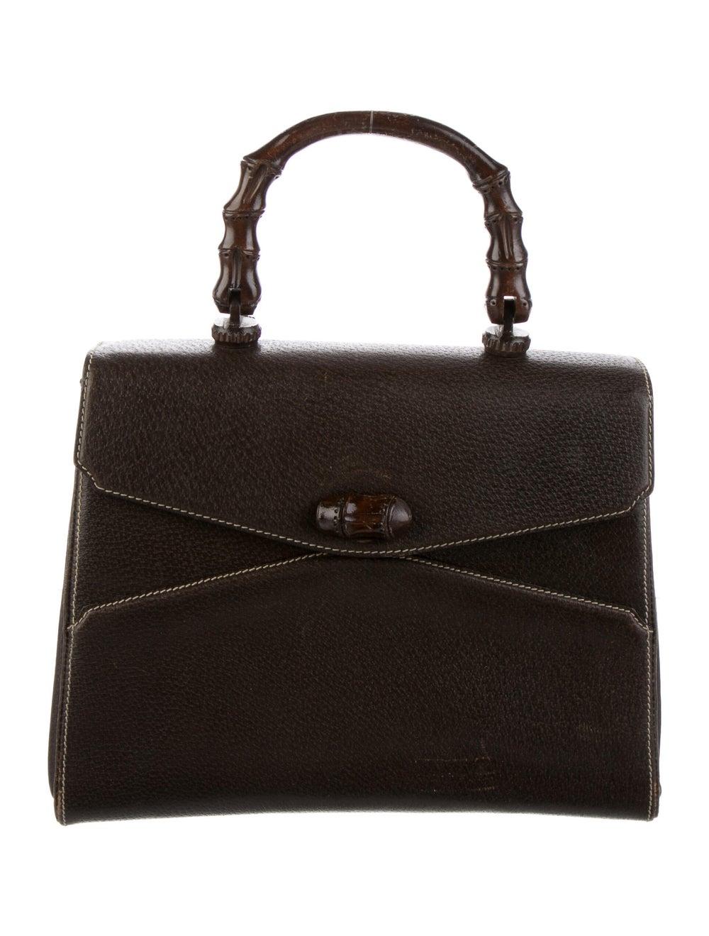 Gucci Vintage Bamboo Handle Bag Brown - image 1