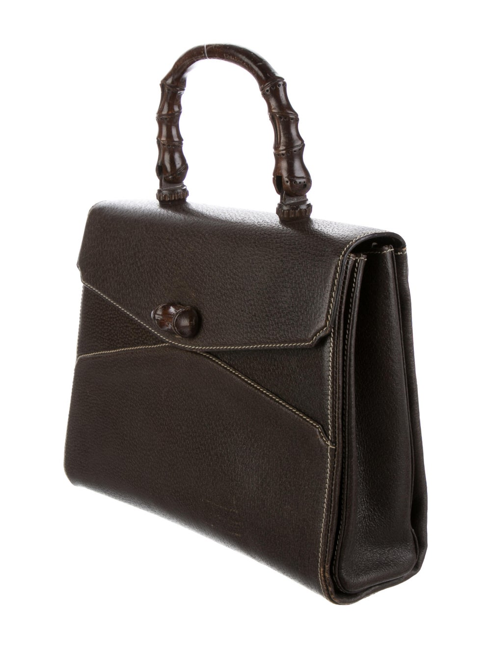 Gucci Vintage Bamboo Handle Bag Brown - image 2