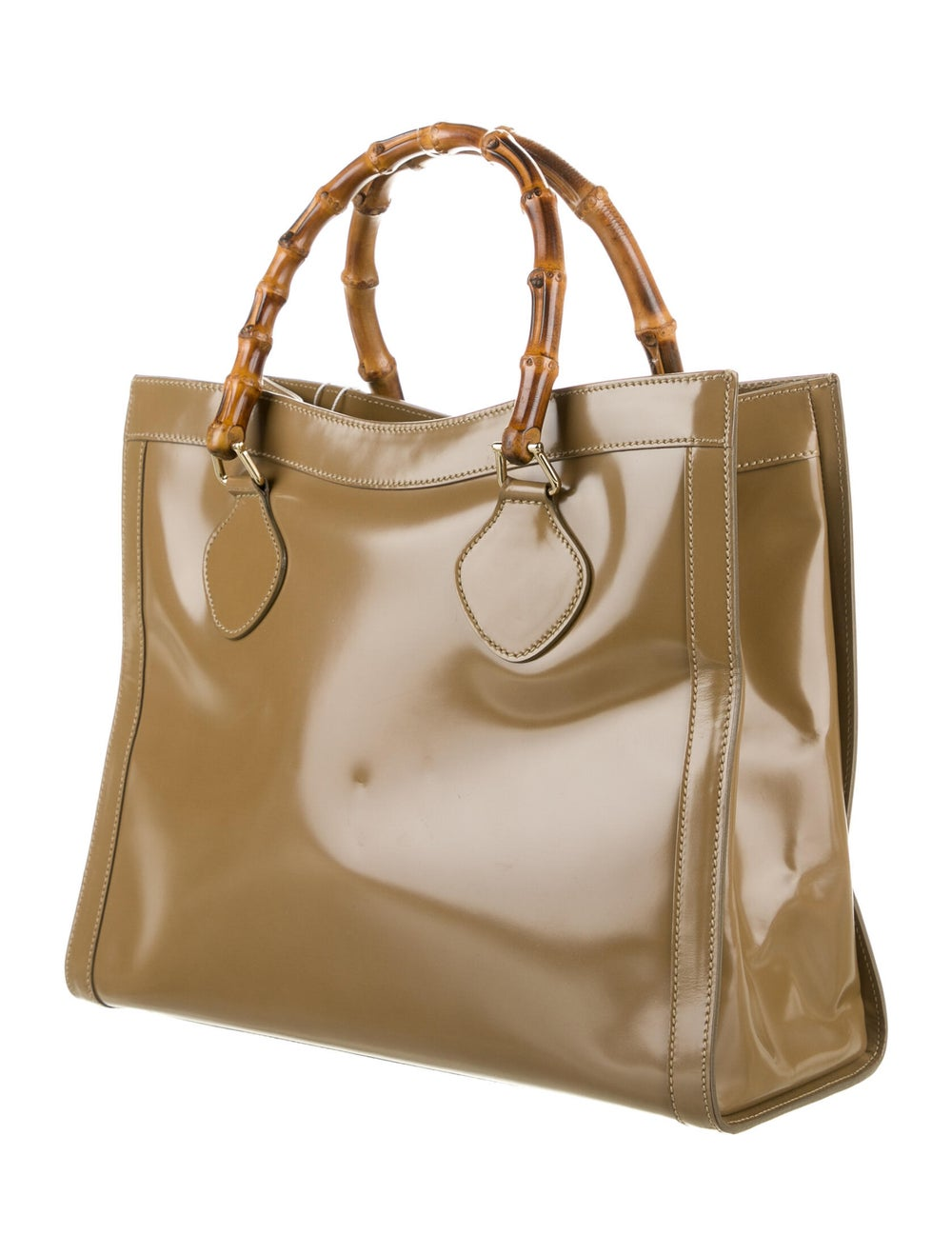 Gucci Vintage Leather Bamboo Diana Tote Brown - image 3