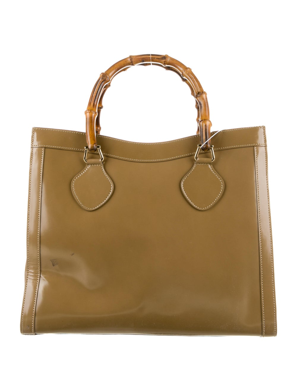 Gucci Vintage Leather Bamboo Diana Tote Brown - image 4