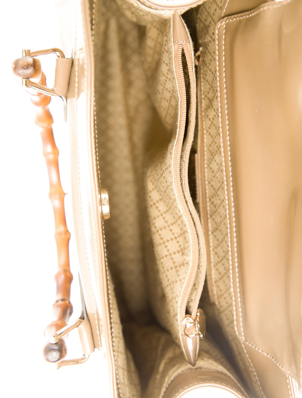 Gucci Vintage Leather Bamboo Diana Tote Brown - image 5