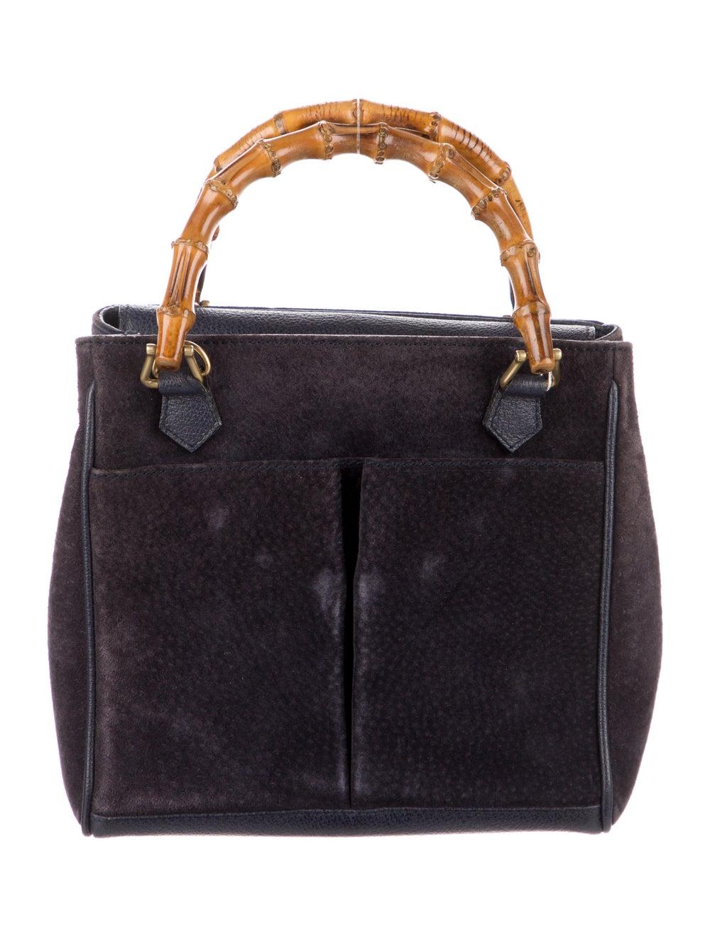 Gucci Vintage Mini Bamboo Handle Bag Blue - image 1