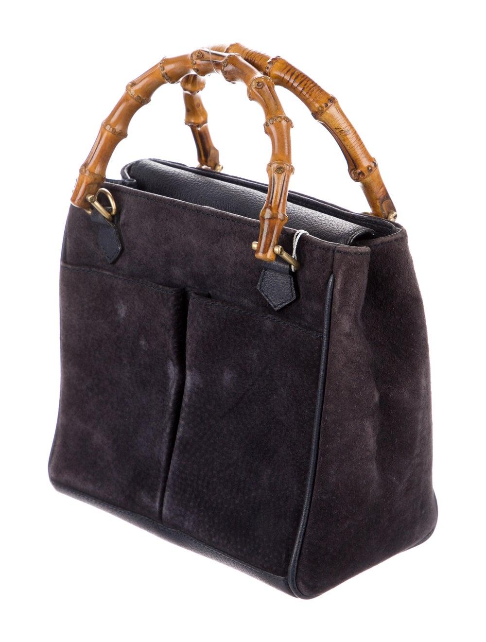 Gucci Vintage Mini Bamboo Handle Bag Blue - image 3