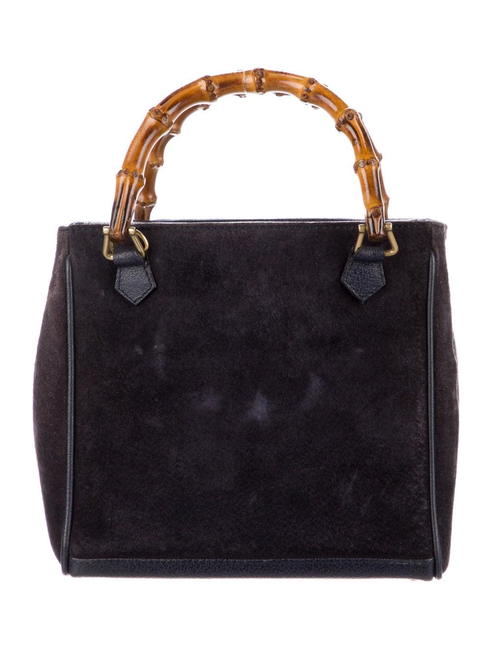 Gucci Vintage Mini Bamboo Handle Bag Blue - image 4