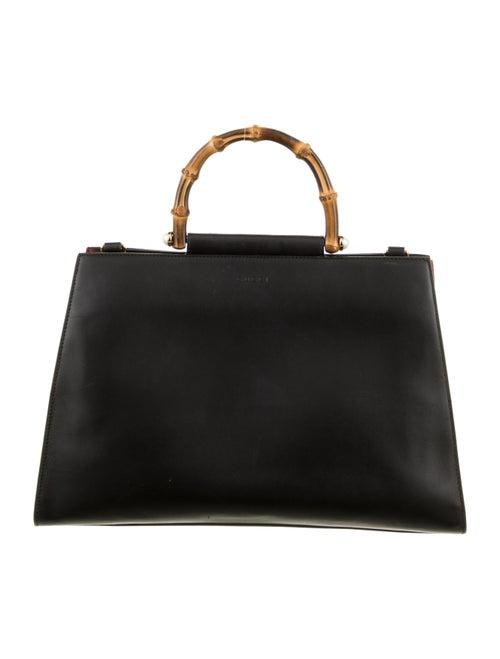 Gucci Medium Nymphaea Bamboo Handle Bag Black - image 1