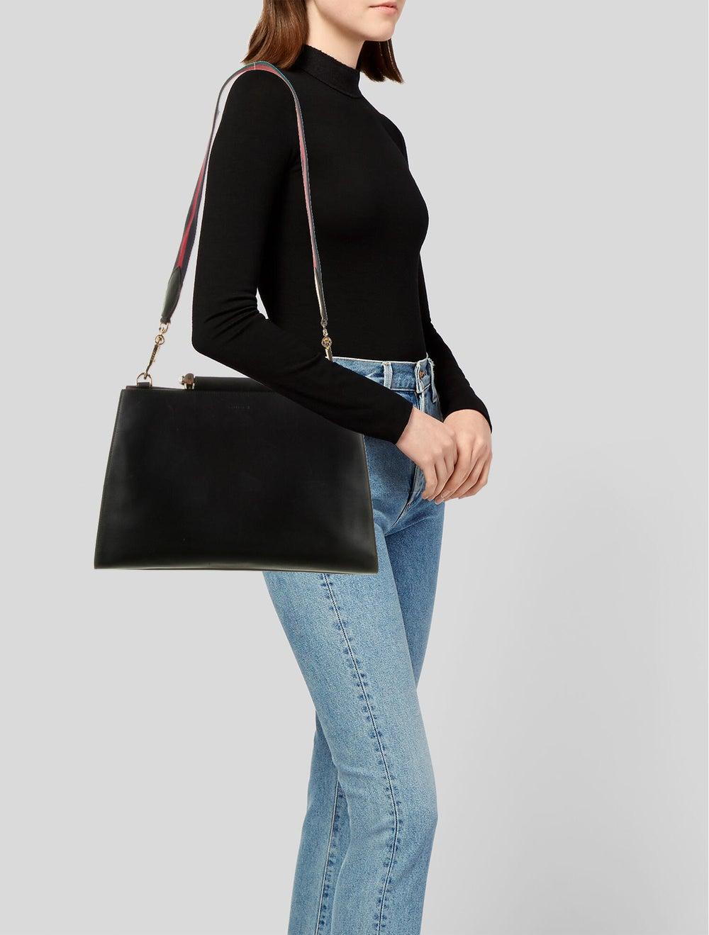 Gucci Medium Nymphaea Bamboo Handle Bag Black - image 2