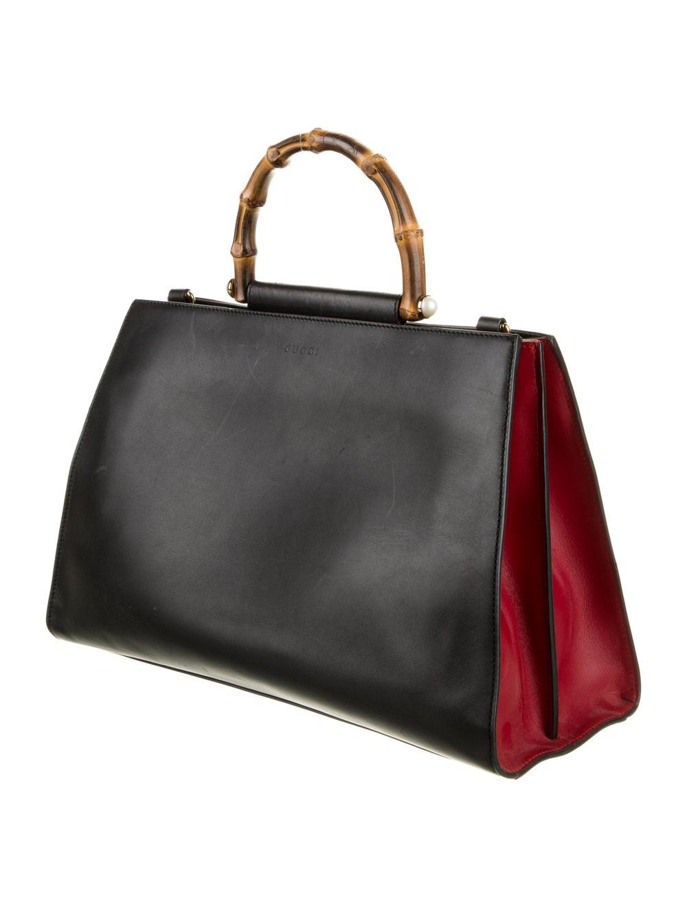 Gucci Medium Nymphaea Bamboo Handle Bag Black - image 3