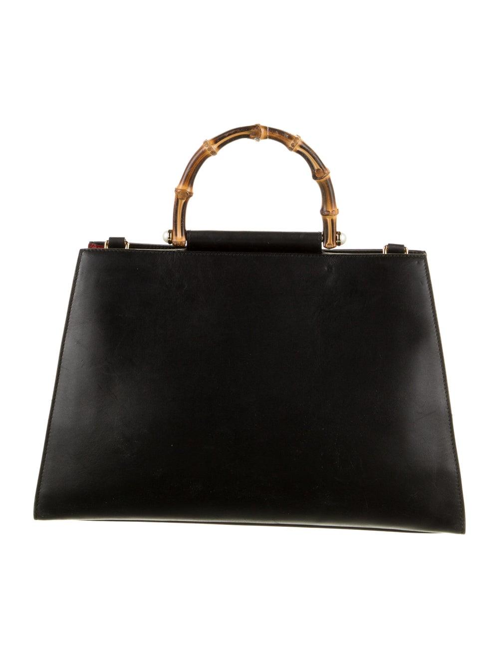 Gucci Medium Nymphaea Bamboo Handle Bag Black - image 4