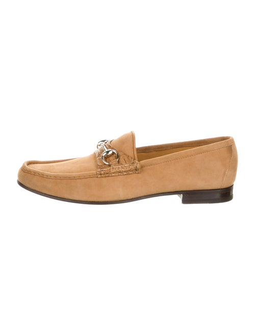 Gucci Horsebit Accent Suede Dress Loafers Brown - image 1