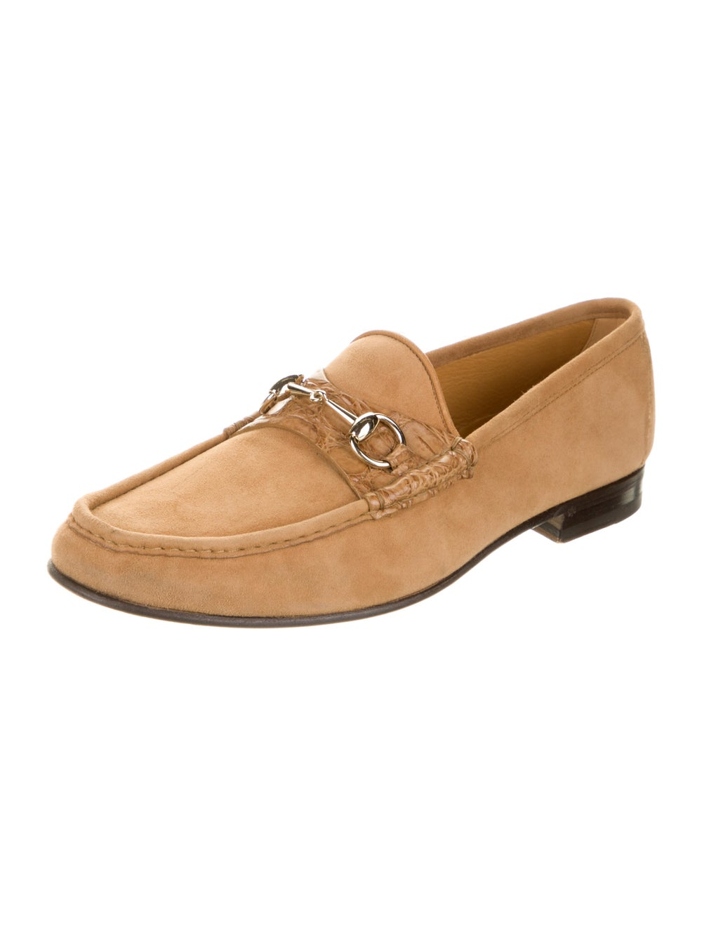 Gucci Horsebit Accent Suede Dress Loafers Brown - image 2