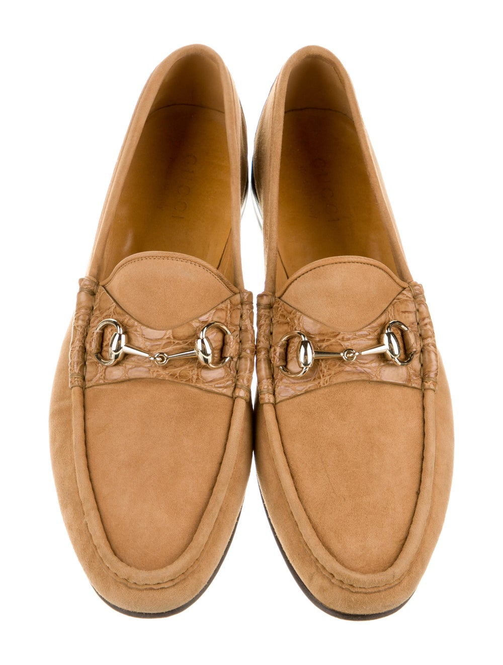 Gucci Horsebit Accent Suede Dress Loafers Brown - image 3