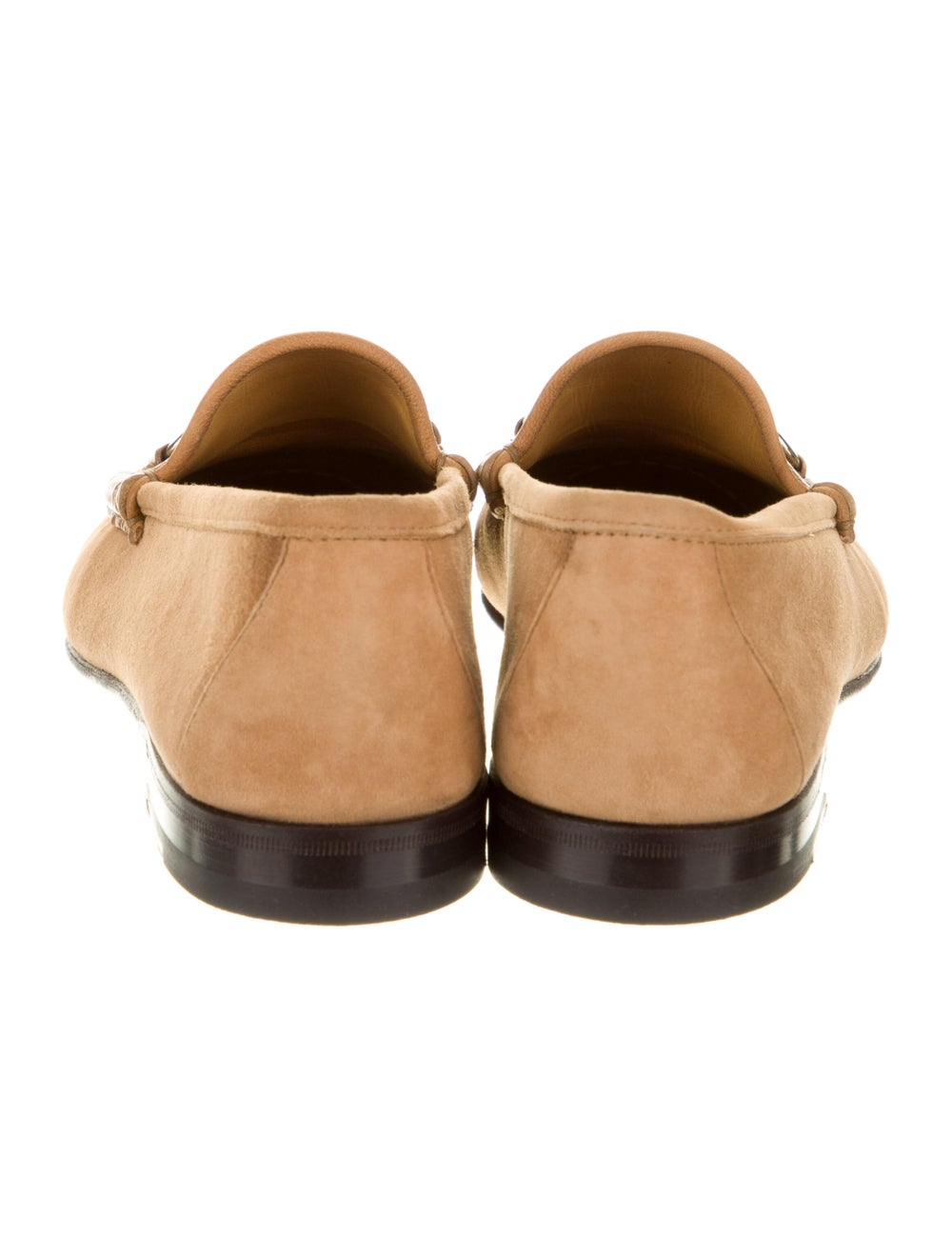 Gucci Horsebit Accent Suede Dress Loafers Brown - image 4
