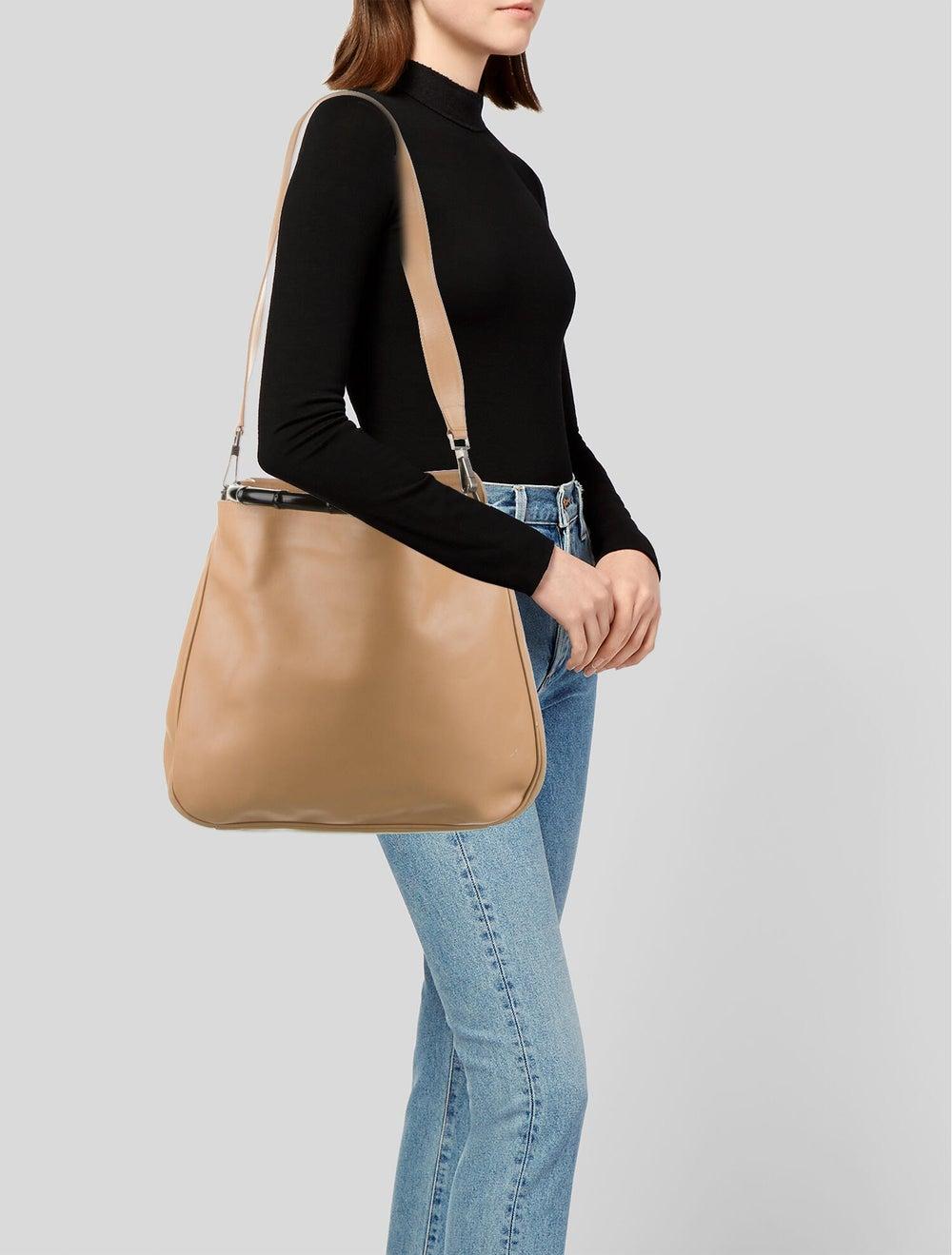 Gucci Diana Bamboo Shoulder Bag Silver - image 2