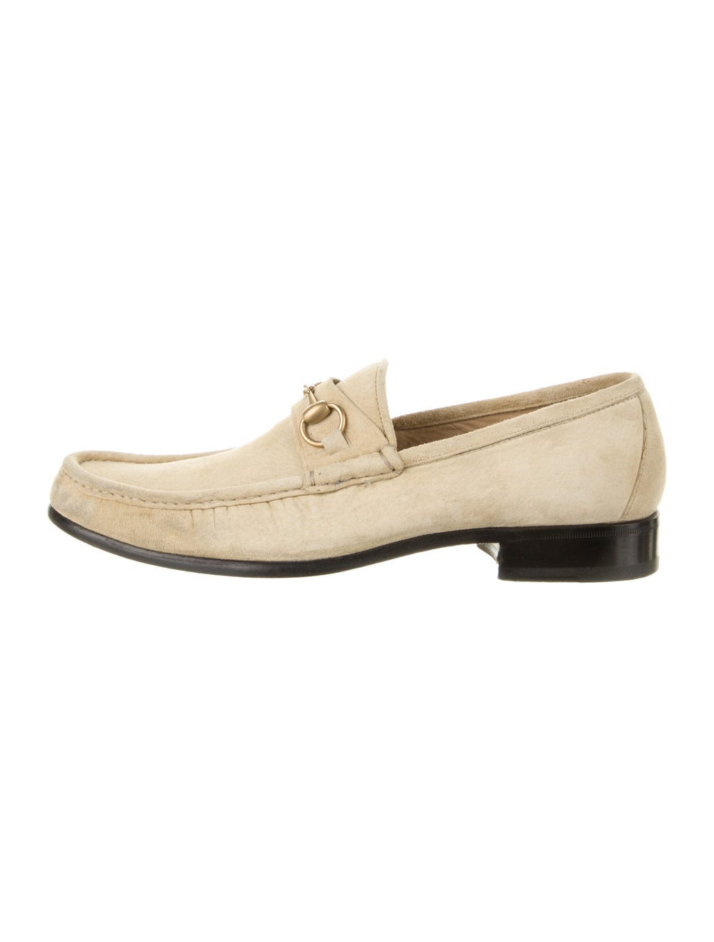 Gucci Horsebit Accent Suede Dress Loafers - image 1