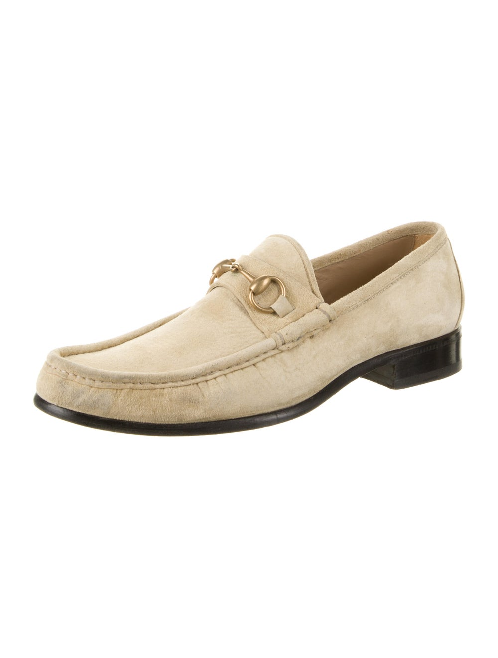Gucci Horsebit Accent Suede Dress Loafers - image 2