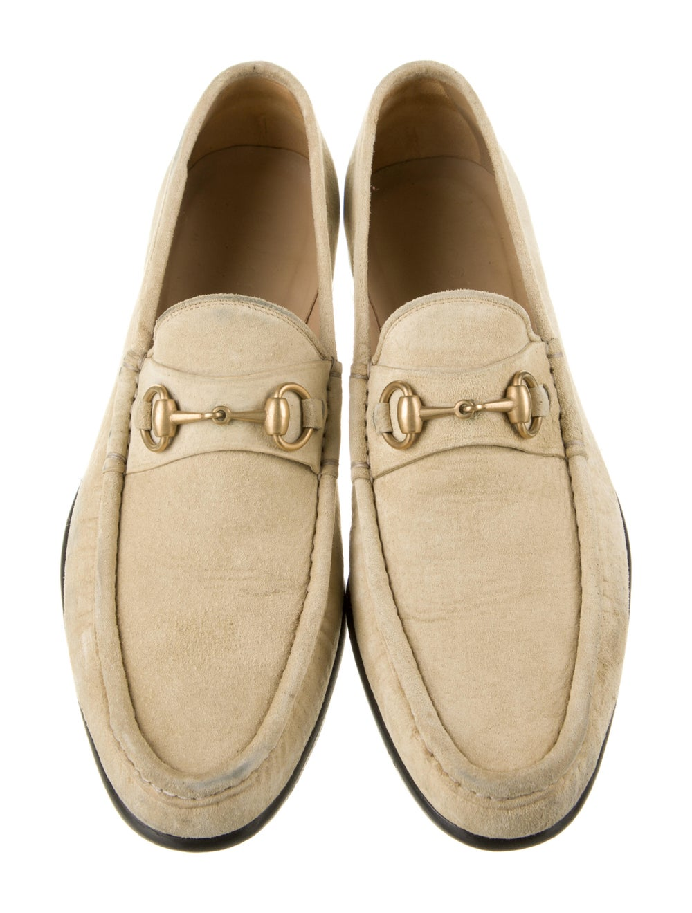 Gucci Horsebit Accent Suede Dress Loafers - image 3