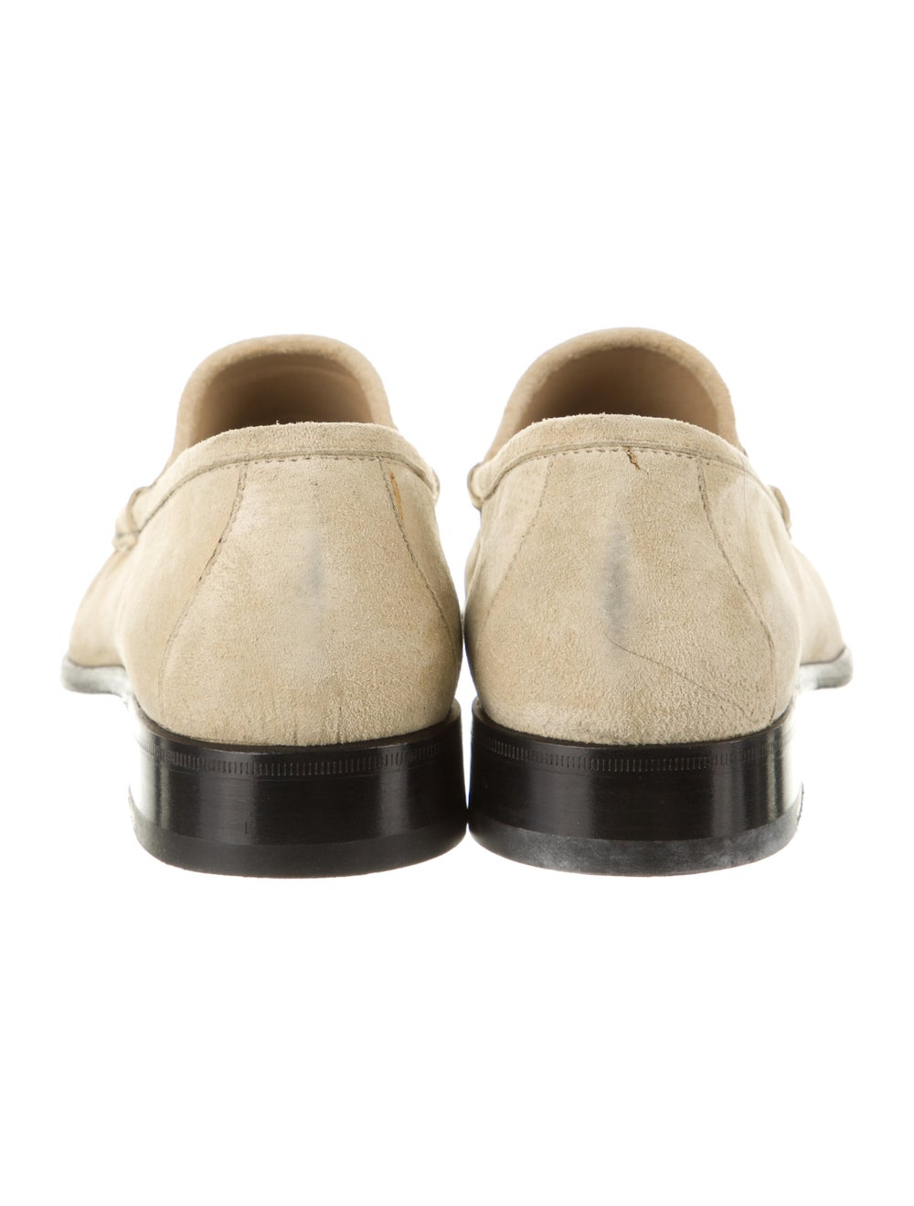 Gucci Horsebit Accent Suede Dress Loafers - image 4