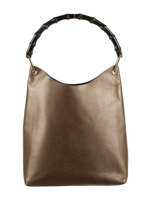 Gucci Bamboo Handle Leather Hobo Brown - image 1