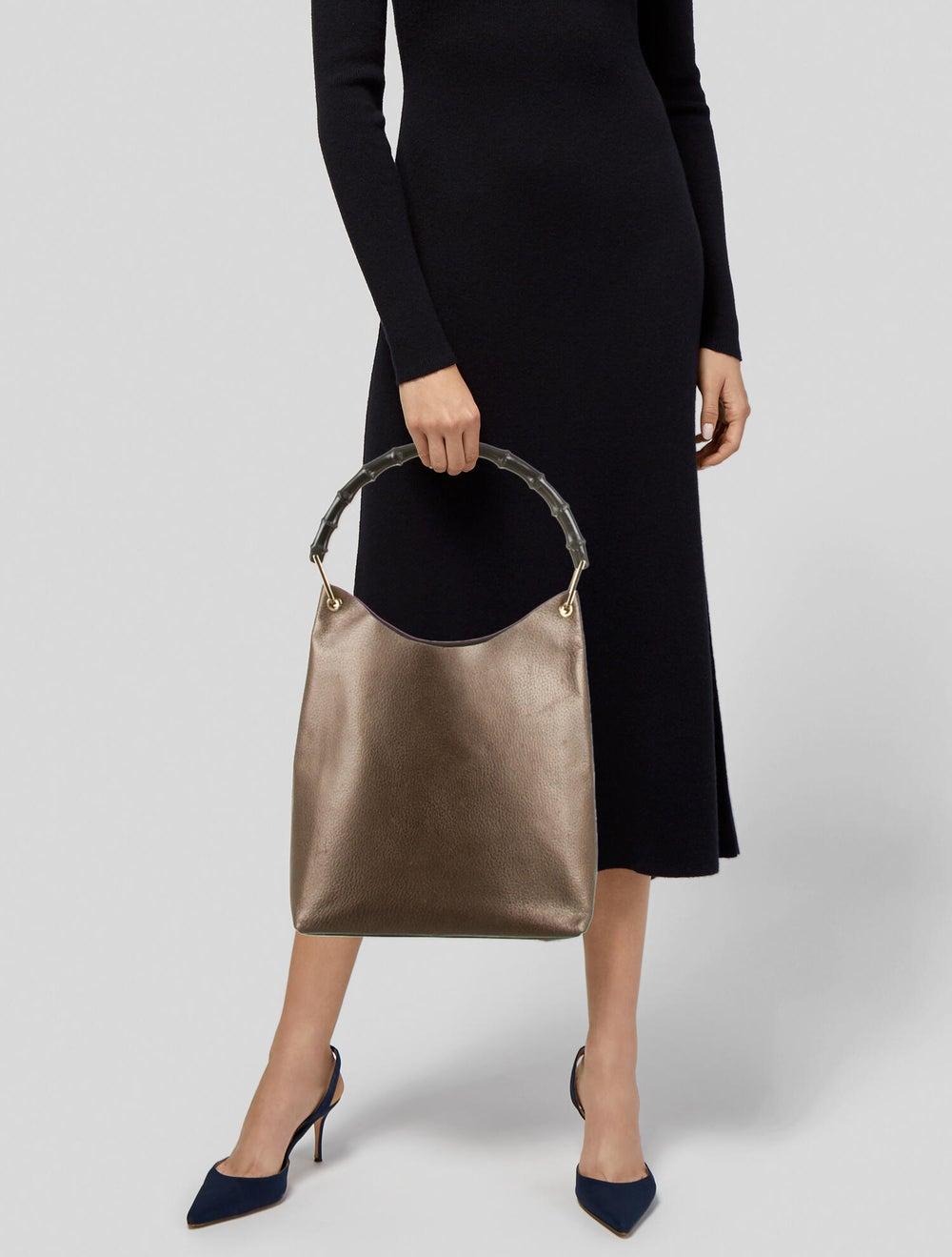 Gucci Bamboo Handle Leather Hobo Brown - image 2