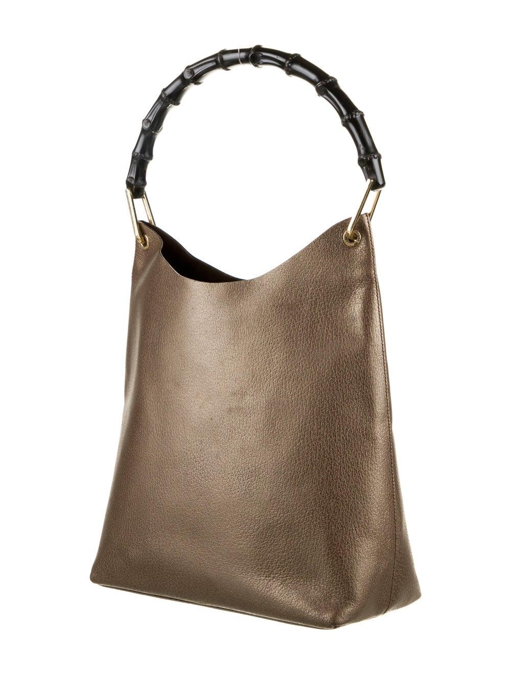 Gucci Bamboo Handle Leather Hobo Brown - image 3