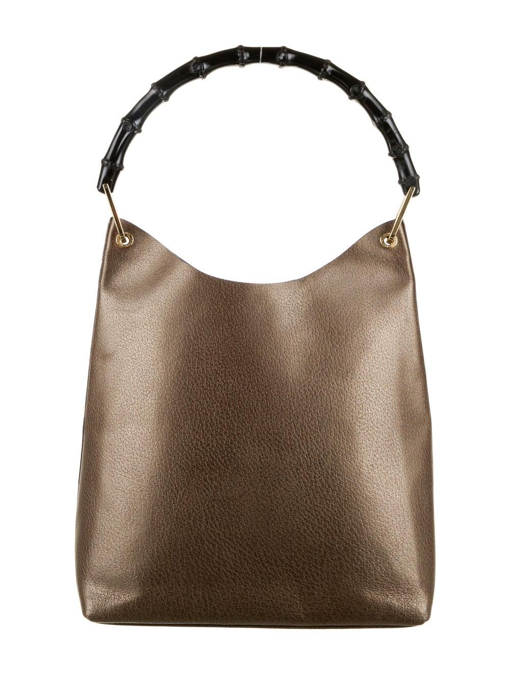 Gucci Bamboo Handle Leather Hobo Brown - image 4