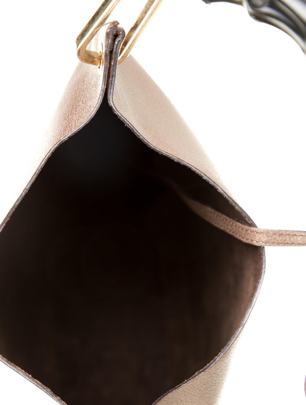 Gucci Bamboo Handle Leather Hobo Brown - image 5