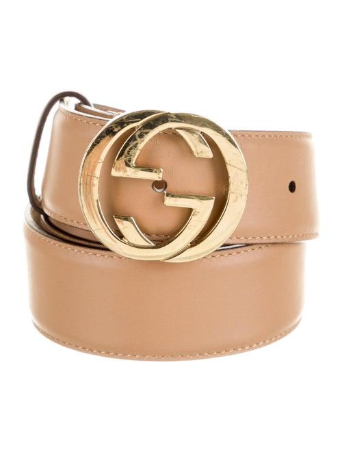 Gucci Leather Belt Gold - image 1