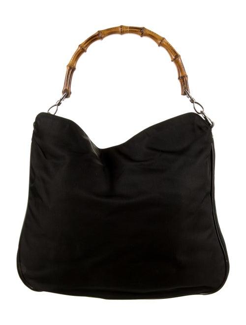 Gucci Vintage Nylon Bamboo Bag Black - image 1