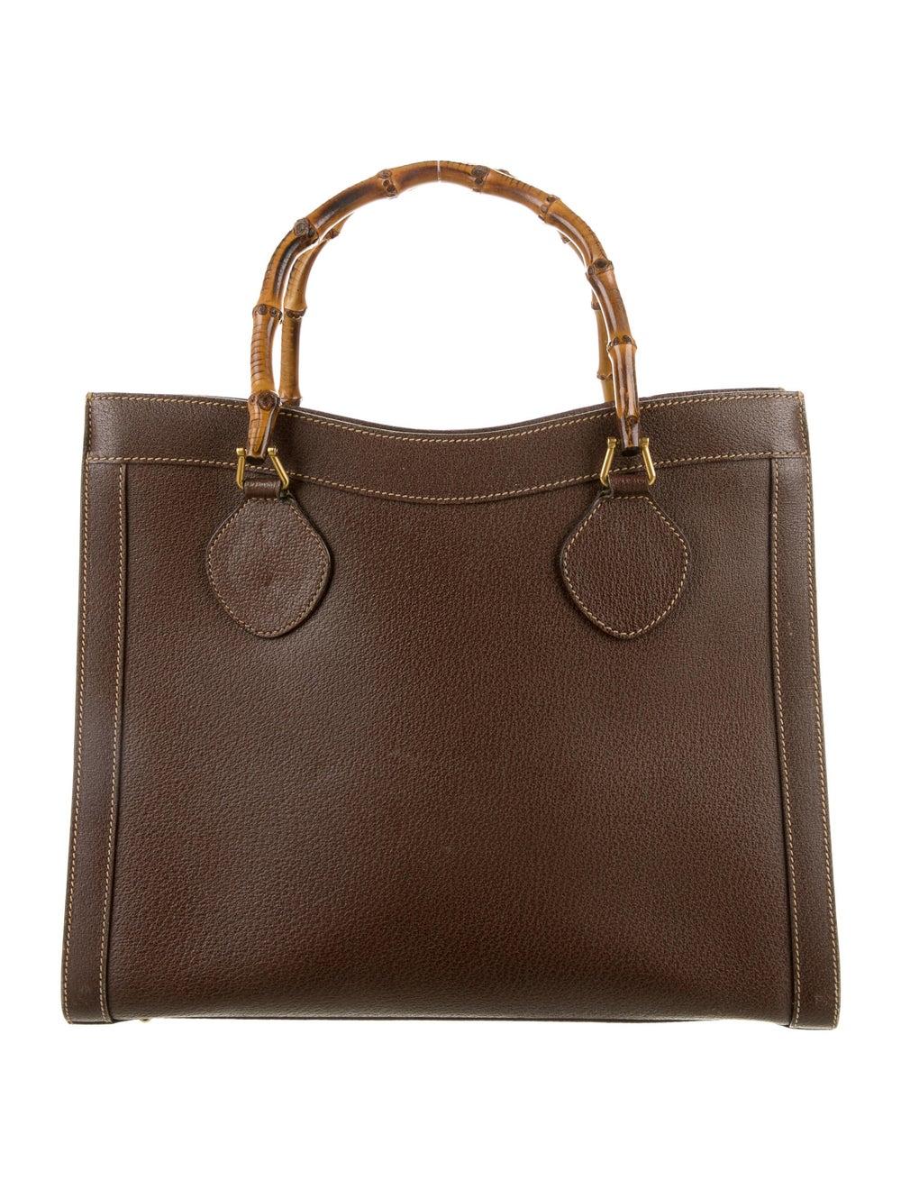 Gucci Vintage Diana Bamboo Tote Brown - image 1