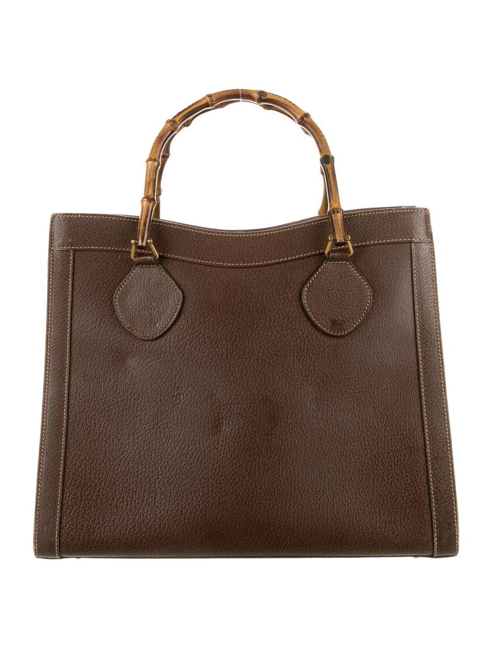 Gucci Vintage Diana Bamboo Tote Brown - image 4