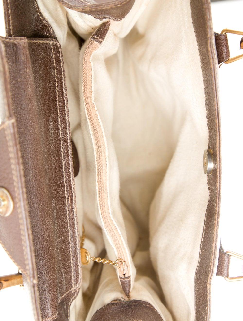 Gucci Vintage Diana Bamboo Tote Brown - image 5