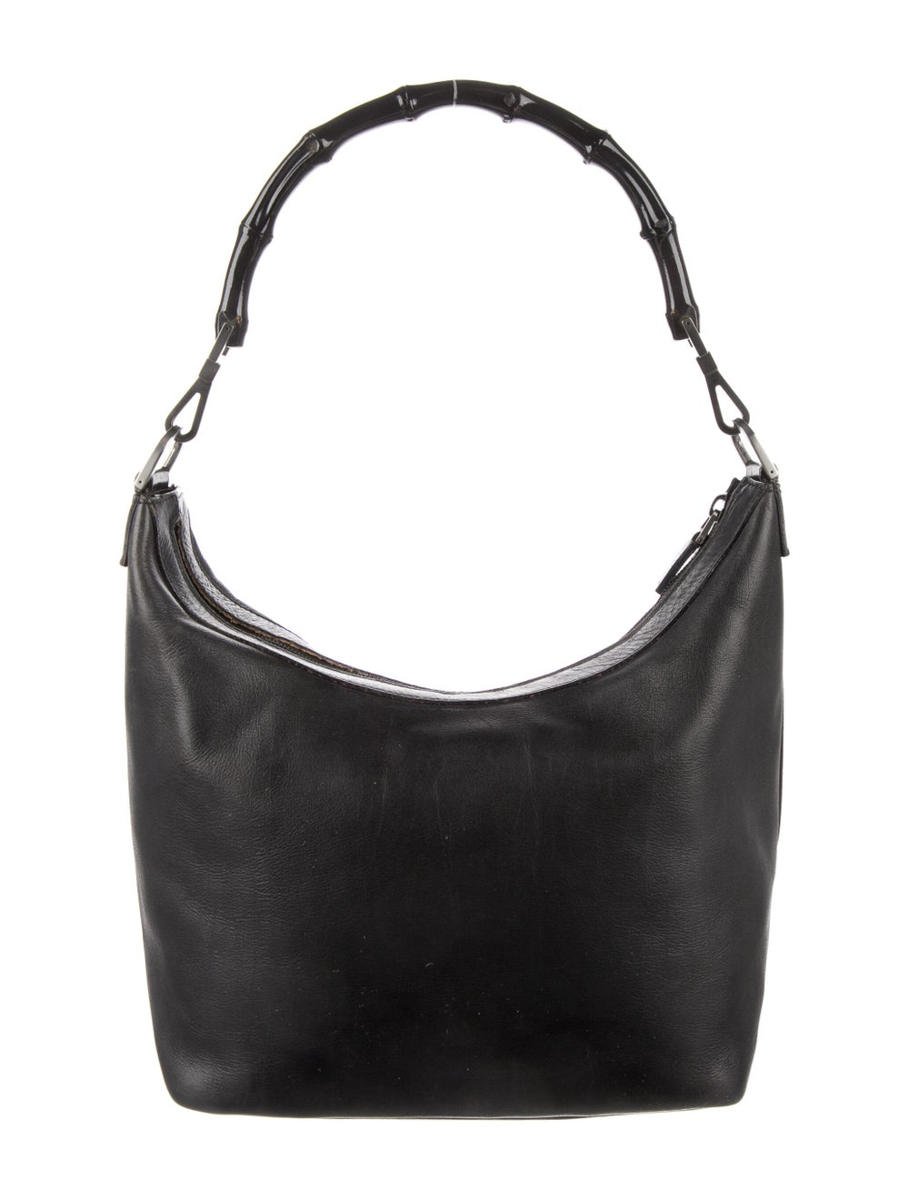 Gucci Vintage Leather Diana Bamboo Handle Hobo Bl… - image 4