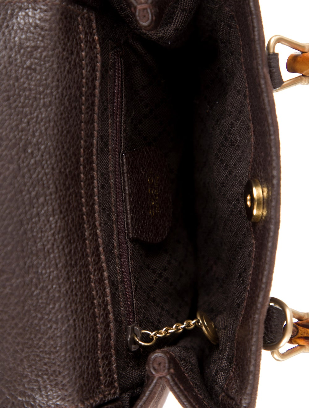 Gucci Vintage Bamboo Mini Suede Diana Bag Brown - image 5