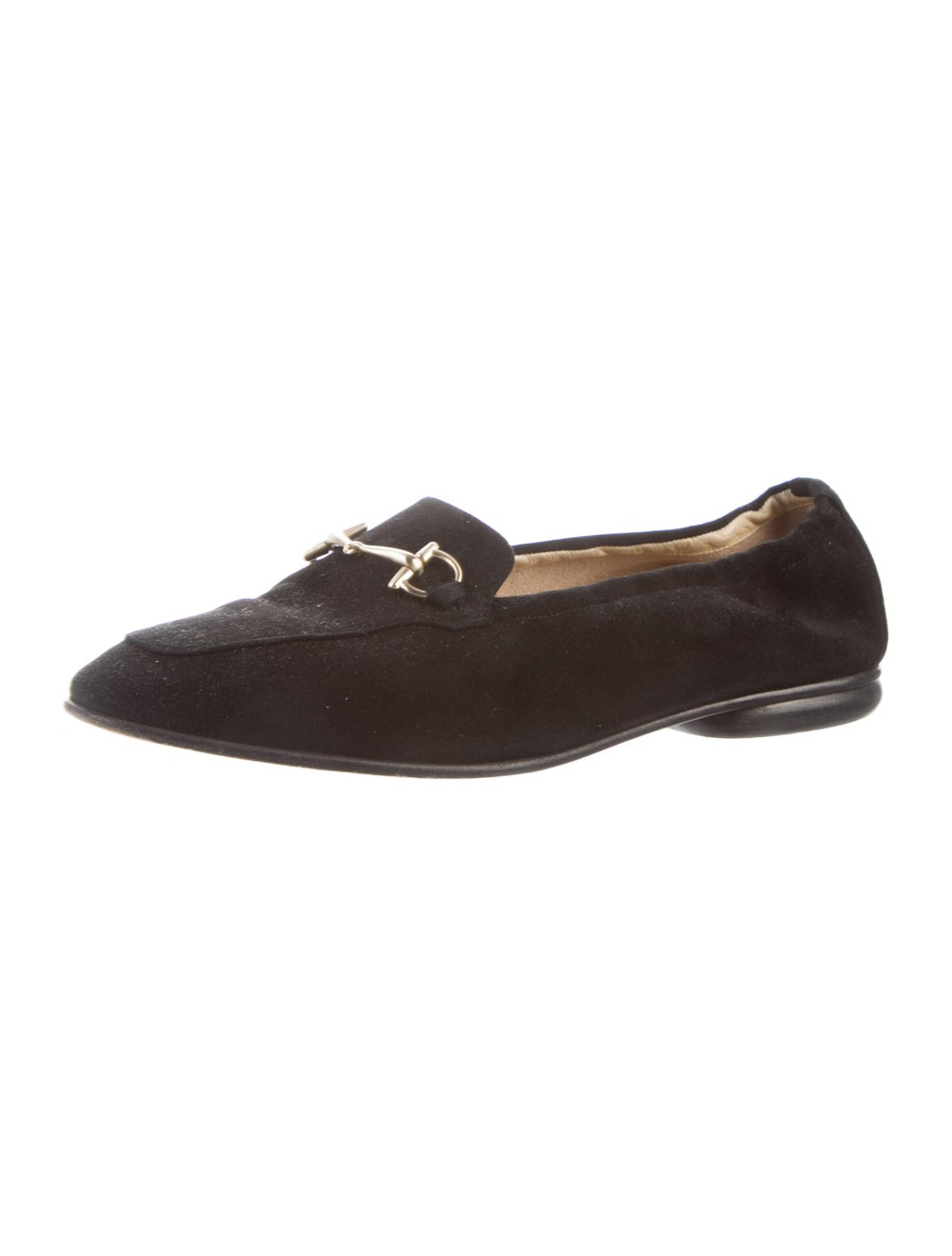 Gucci Horsebit Accent Suede Loafers Black - image 2