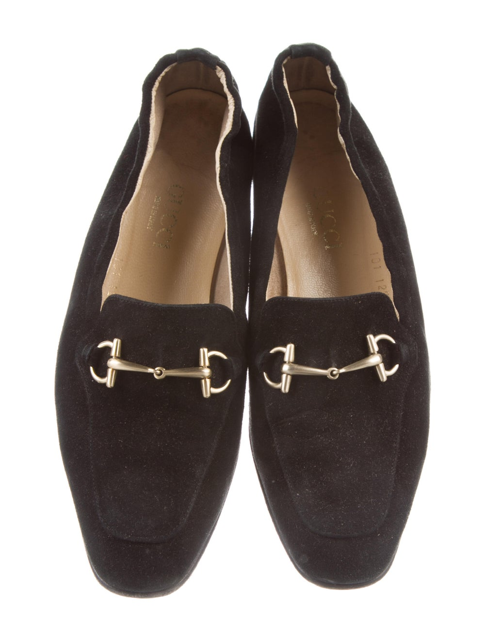 Gucci Horsebit Accent Suede Loafers Black - image 3