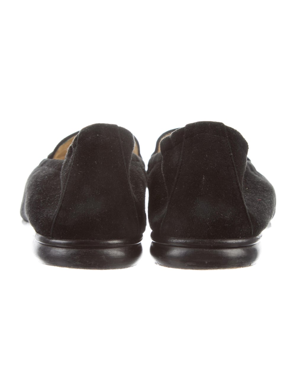 Gucci Horsebit Accent Suede Loafers Black - image 4