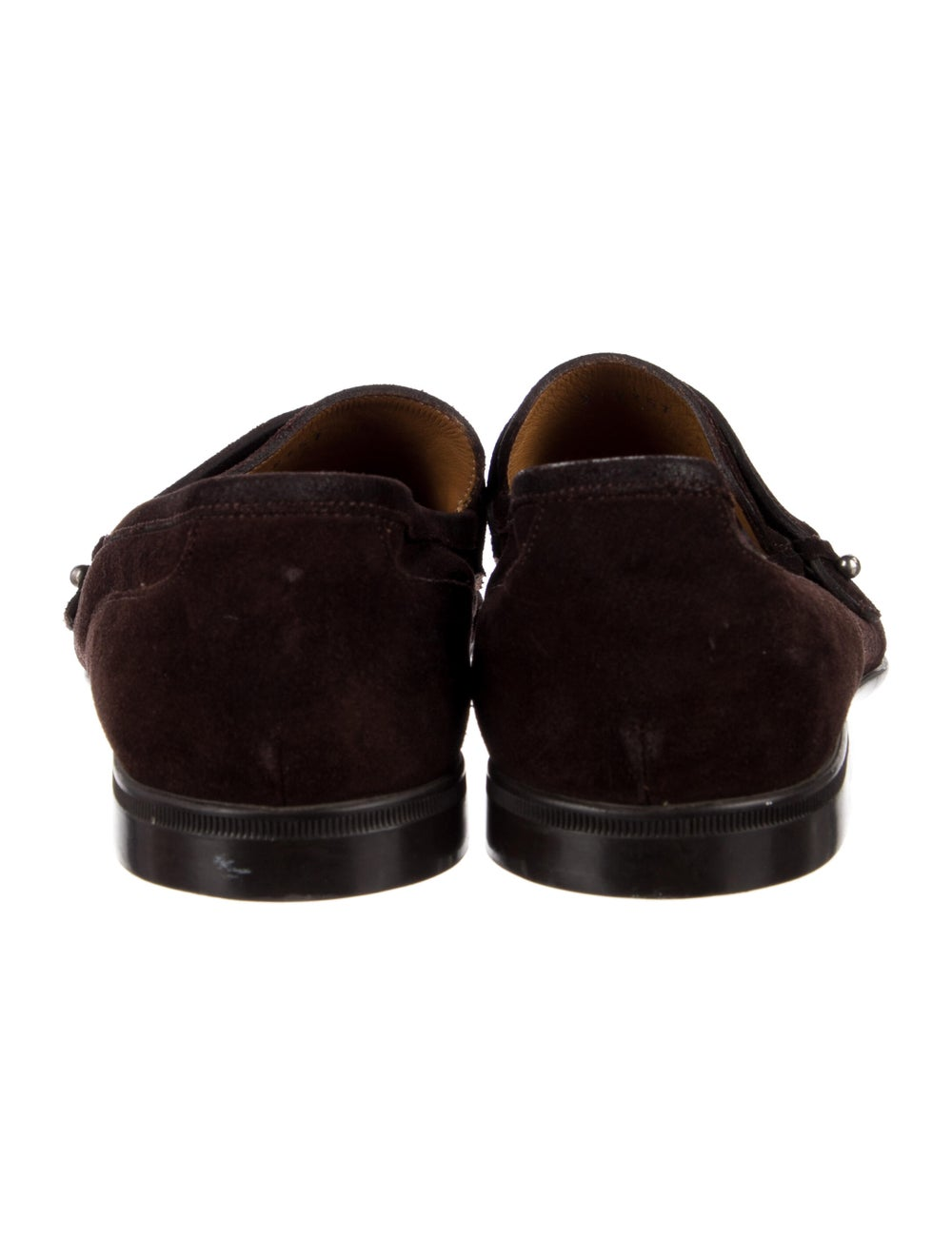 Gucci Suede Loafers Brown - image 4