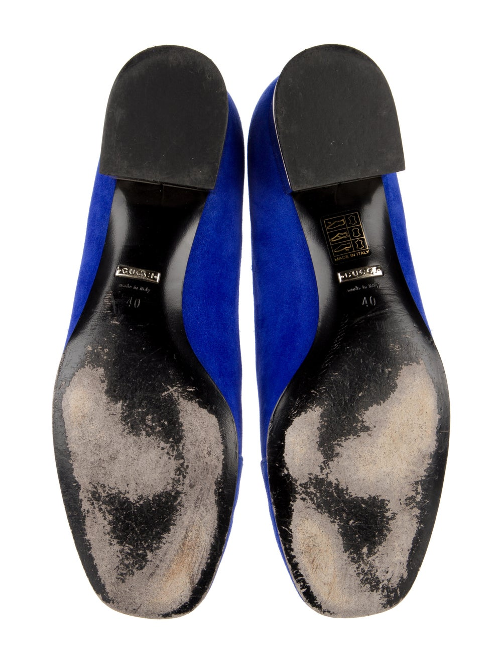 Gucci Suede Loafers Blue - image 5