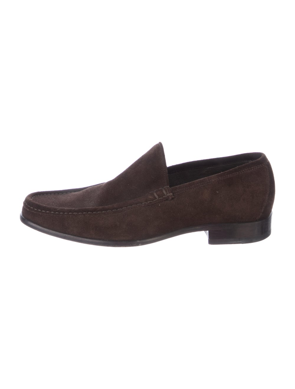 Gucci Suede Dress Loafers Brown - image 1